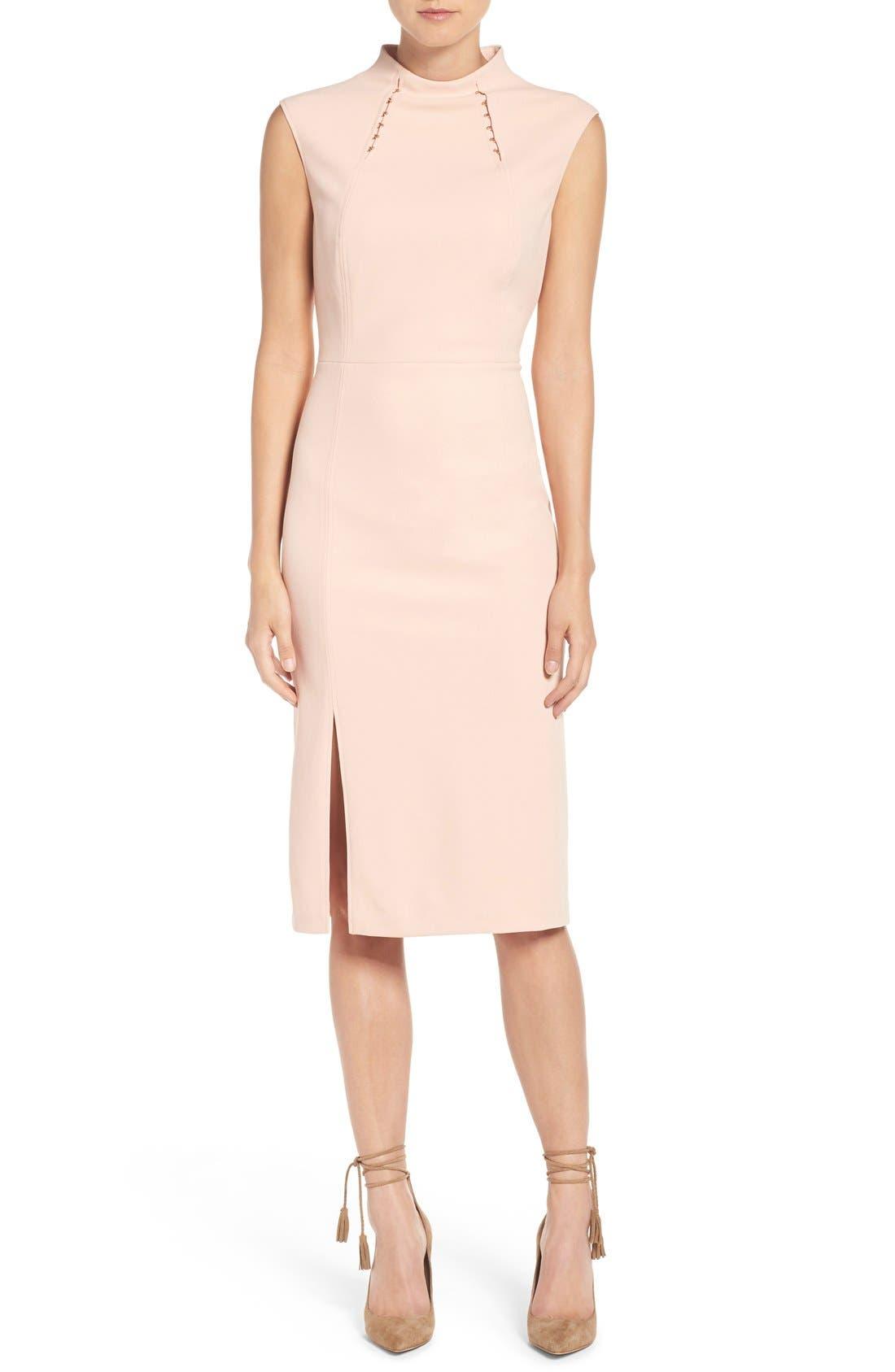Main Image - Ivanka Trump Crepe Midi Dress