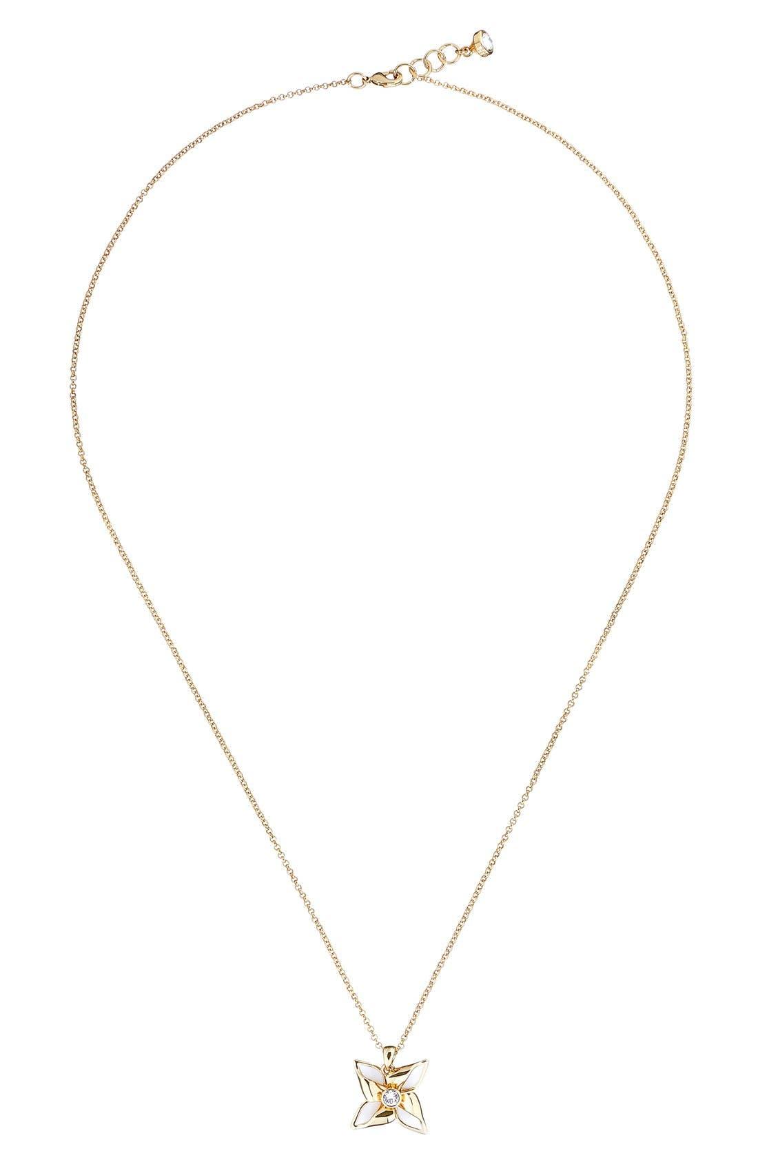Kineta Pendant Necklace,                             Main thumbnail 1, color,                             Gold/ White