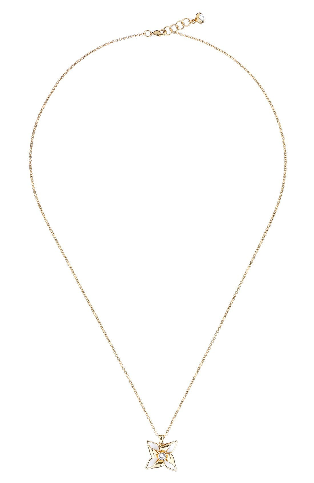 Kineta Pendant Necklace,                         Main,                         color, Gold/ White