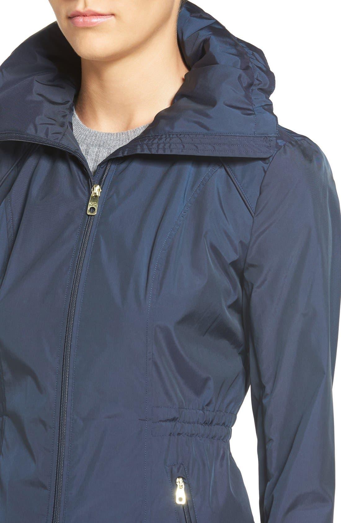 Packable Rain Jacket,                             Alternate thumbnail 4, color,                             Indigo