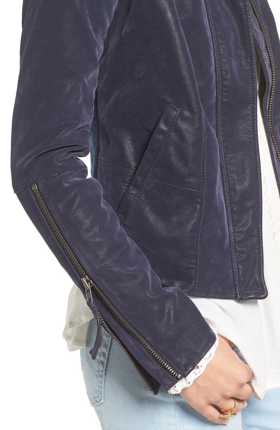 Alternate Image 4  - Free People Faux Leather Jacket