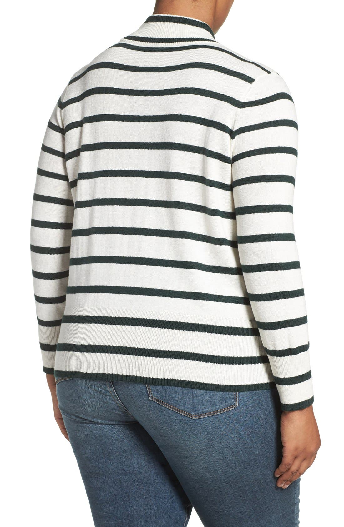 Alternate Image 2  - Melissa McCarthy Seven7 Stripe Mock Neck Sweater (Plus Size)