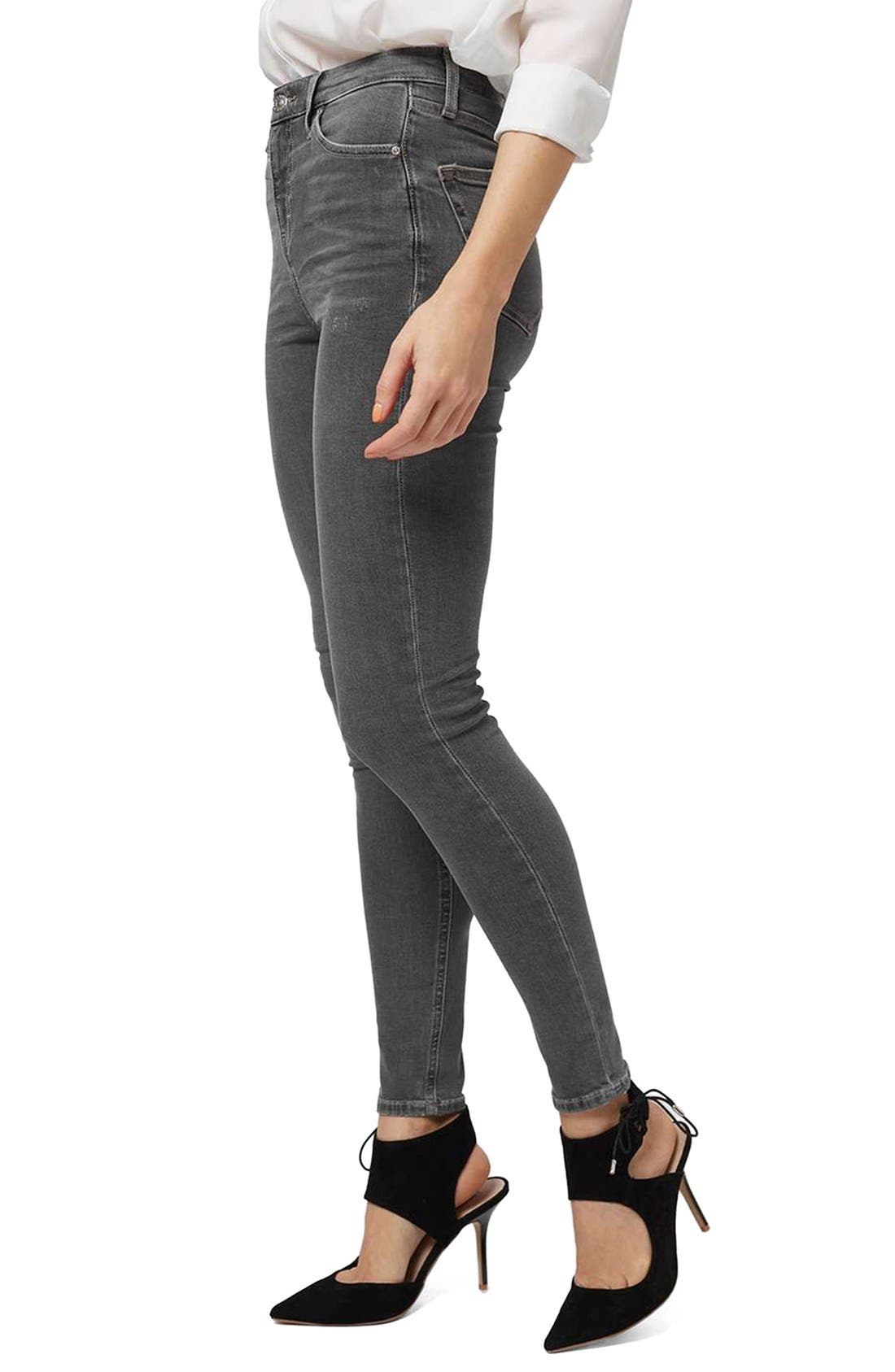 Alternate Image 1 Selected - Topshop Jamie High Rise Ankle Skinny Jeans