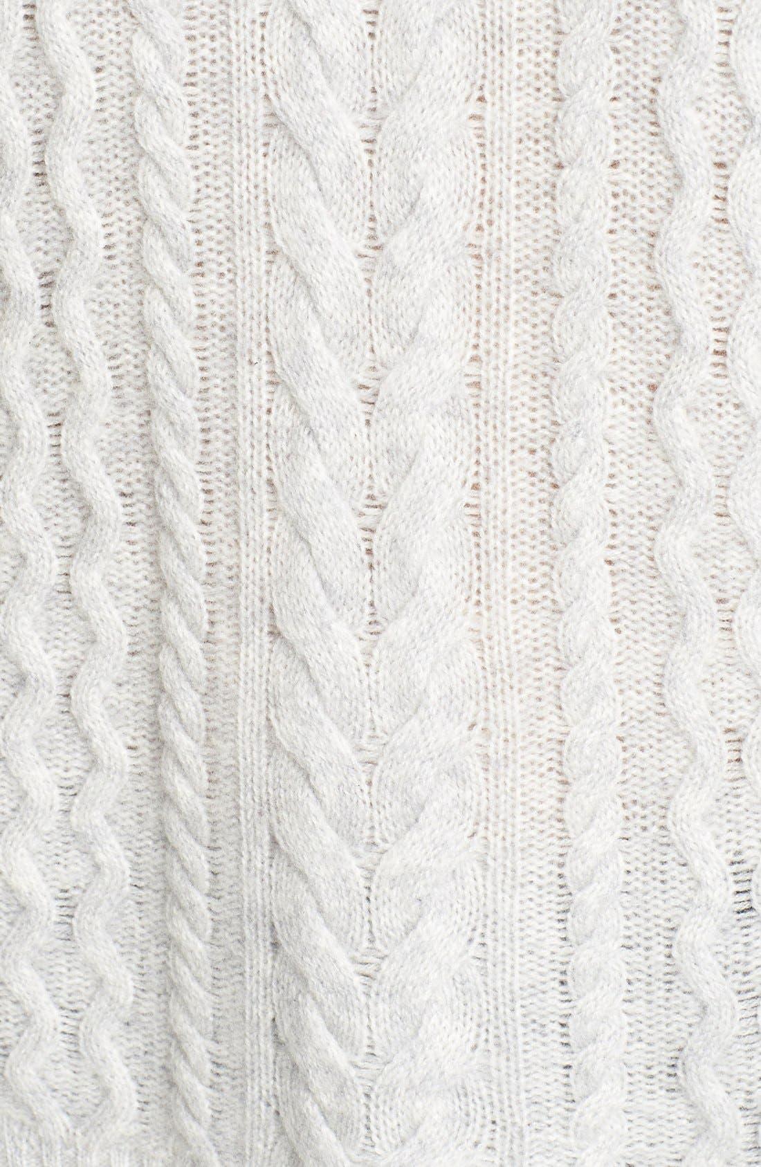 Alternate Image 6  - Halogen® Cable Knit Wool & Cashmere Sweater (Regular & Petite)