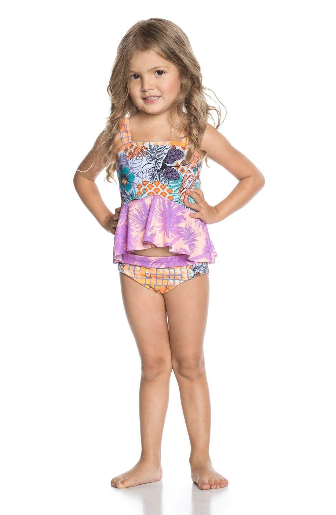 Alternate Image 2  - Maaji Two-Piece Swimsuit (Toddler Girls & Little Girls)