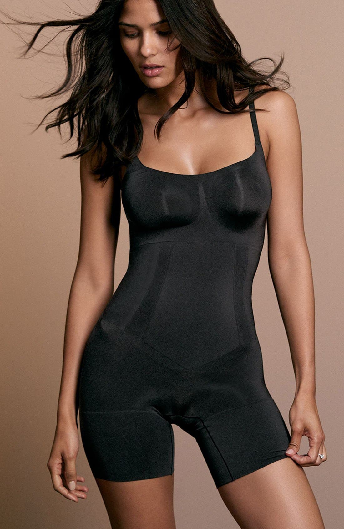 Alternate Image 6  - SPANX® Oncore Mid Thigh Bodysuit