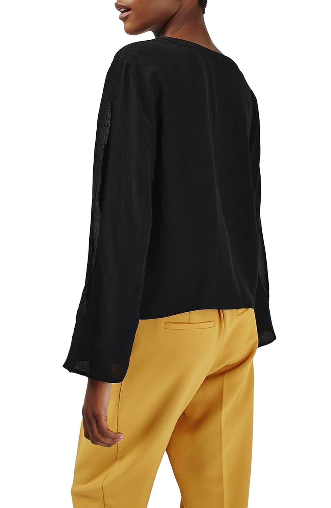 Alternate Image 3  - Topshop Split Sleeve Shirt