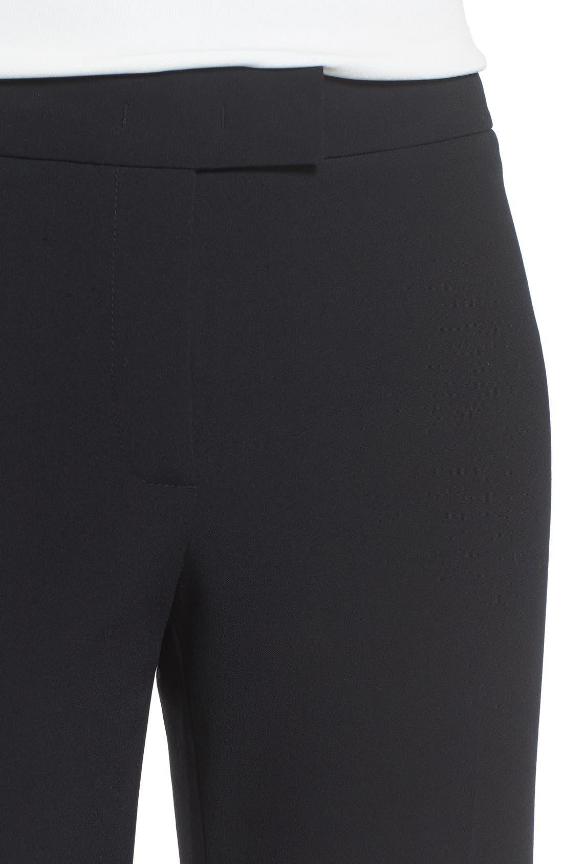 Flare Leg Suit Pants,                             Alternate thumbnail 5, color,                             Anne Klein Black