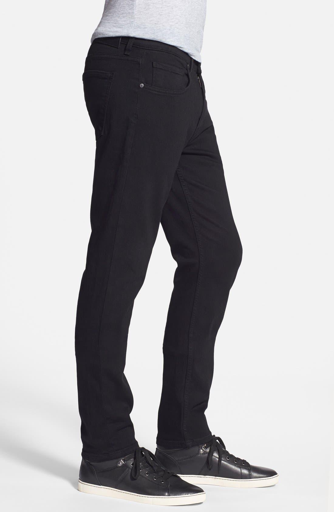 Alternate Image 3  - PAIGE Transcend - Lennox XL Slim Fit Jeans (Black Shadow) (Tall)