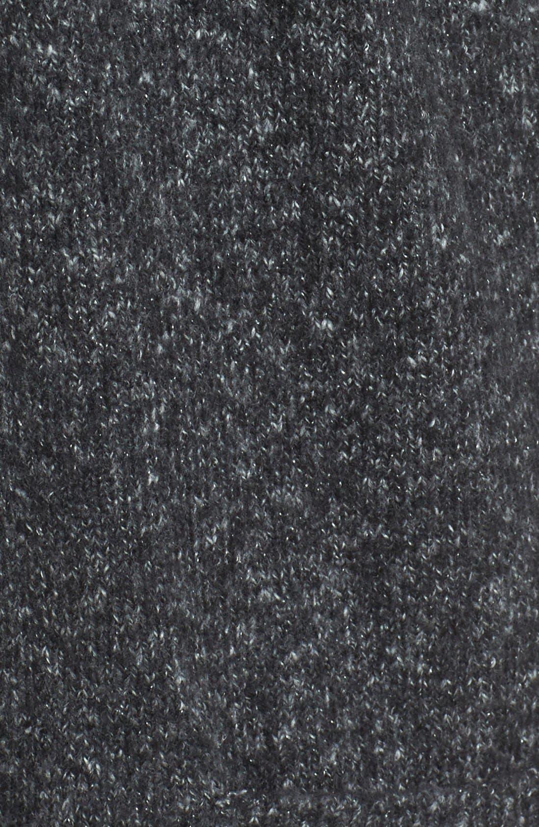 Long Knit Cardigan,                             Alternate thumbnail 5, color,                             Charcoal Marl