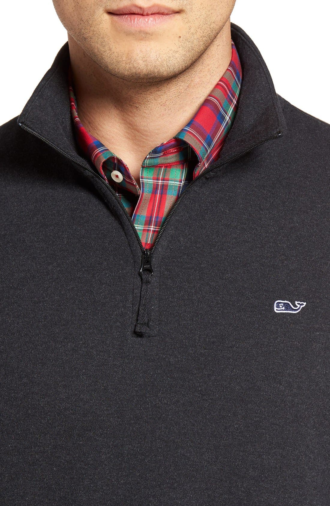 Alternate Image 4  - Vineyard Vines Quarter Zip Sweater