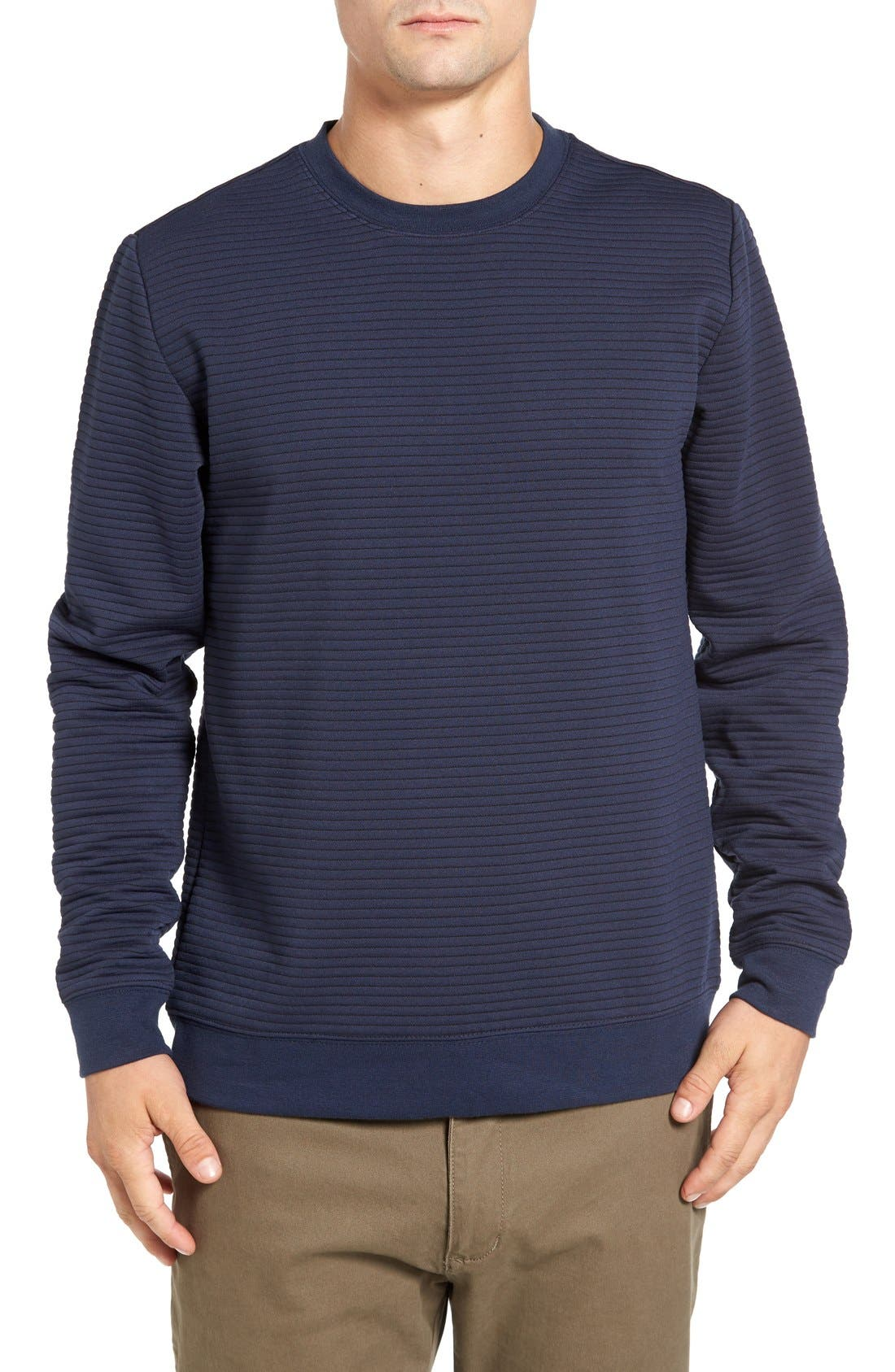 Stripe Pullover,                             Main thumbnail 1, color,                             Dark Blue Royal