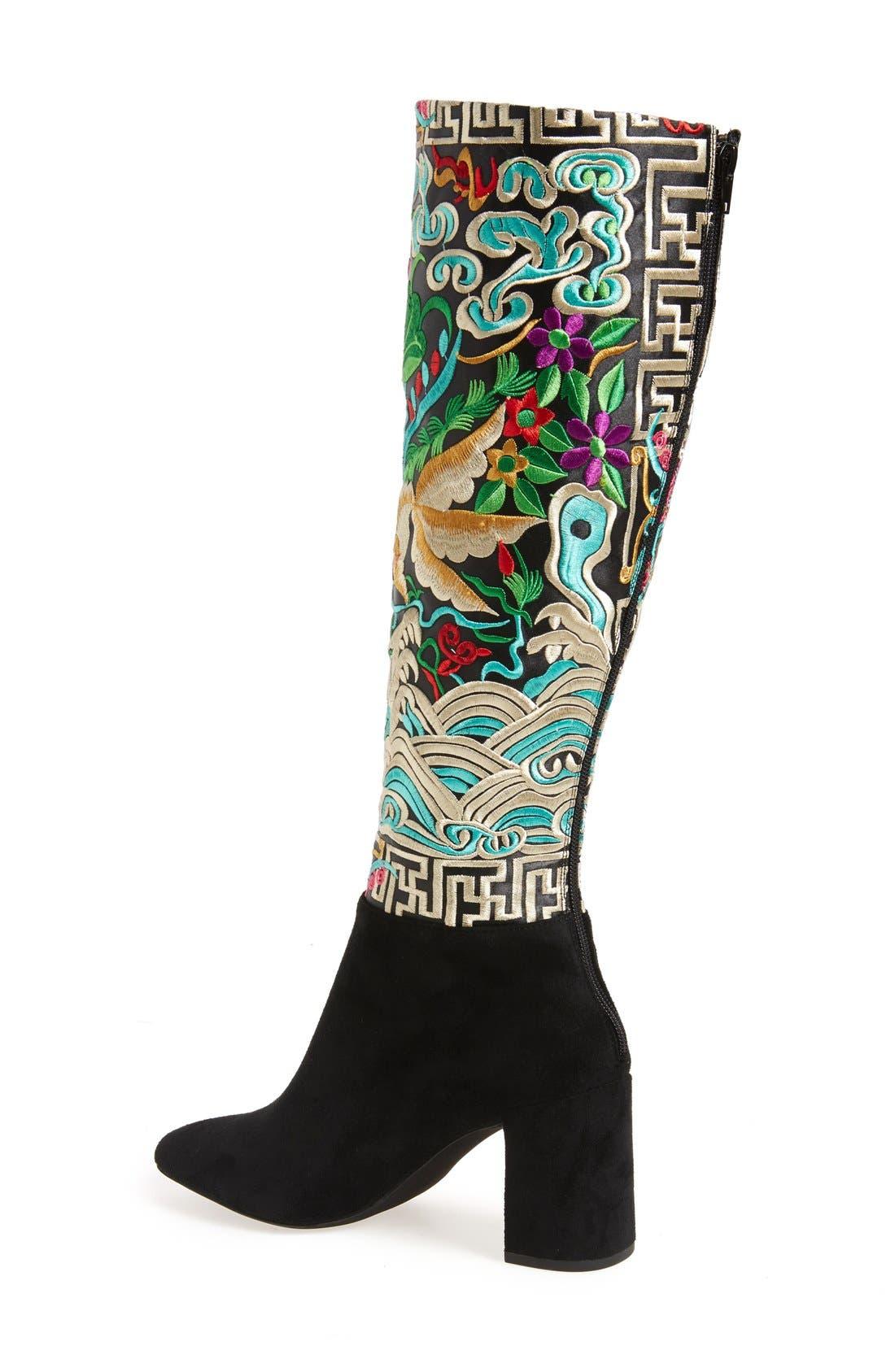 Alternate Image 2  - Jeffrey Campbell Frieze Knee High Boot (Women)