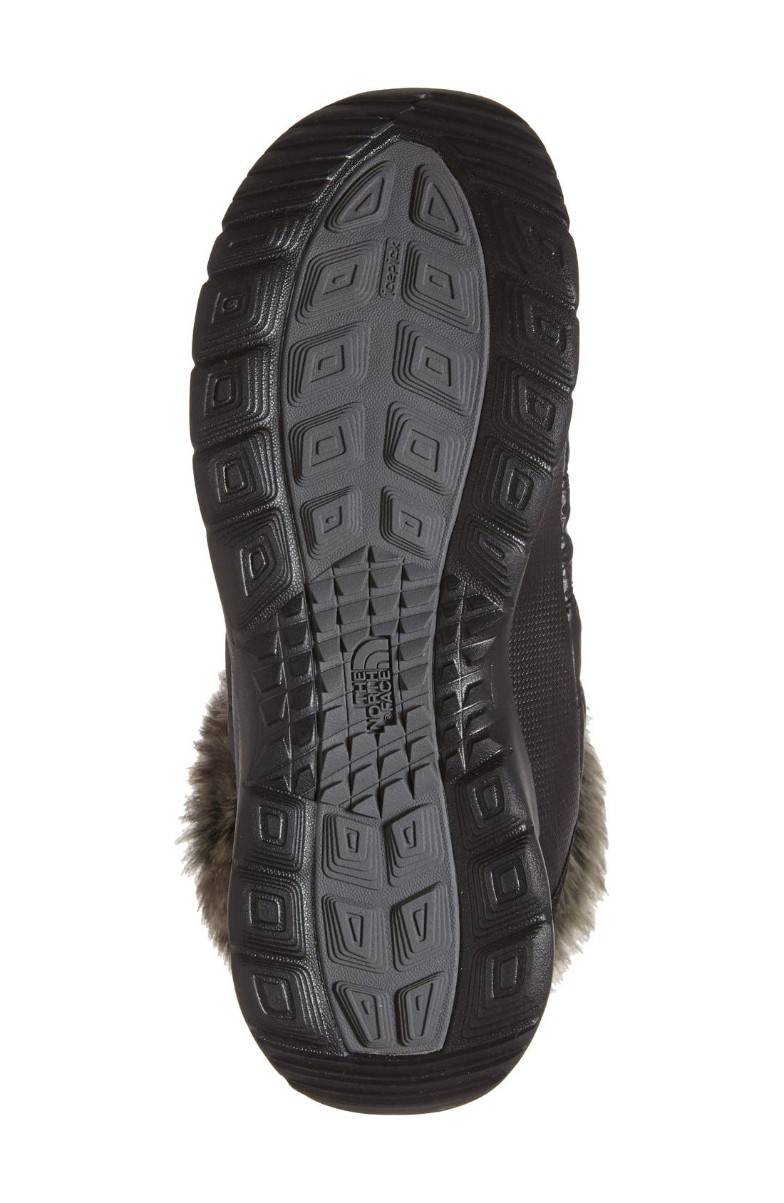 Microbaffle Waterproof ThermoBall<sup>®</sup> Insulated Winter Boot,                             Alternate thumbnail 4, color,                             Black/ Smoked Pearl Grey