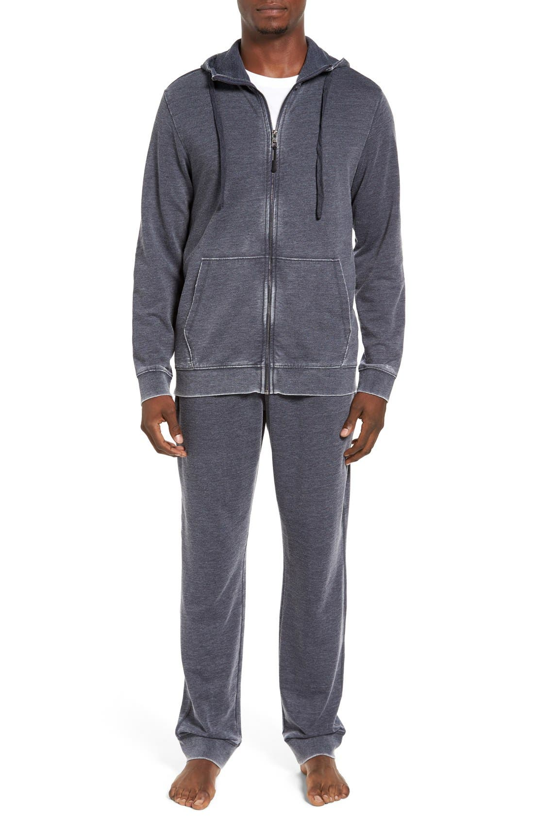 Alternate Image 6  - Daniel Buchler Washed Cotton Blend Terry Lounge Pants