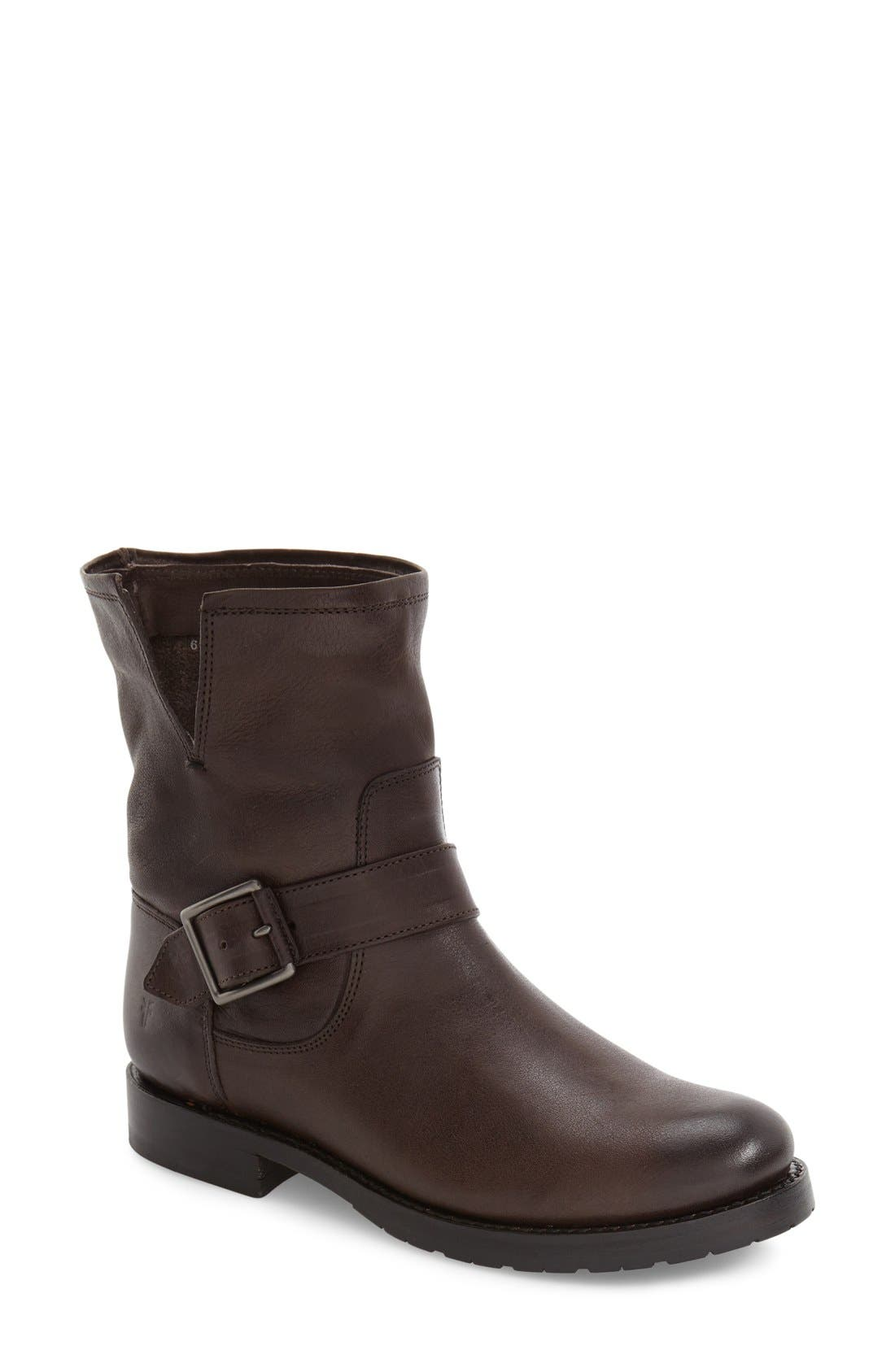 'Natalie' Engineer Boot,                         Main,                         color, Charcoal