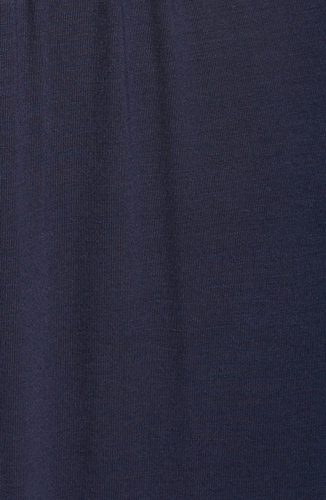 V-Neck Jersey Dress,                             Alternate thumbnail 5, color,                             Indigo