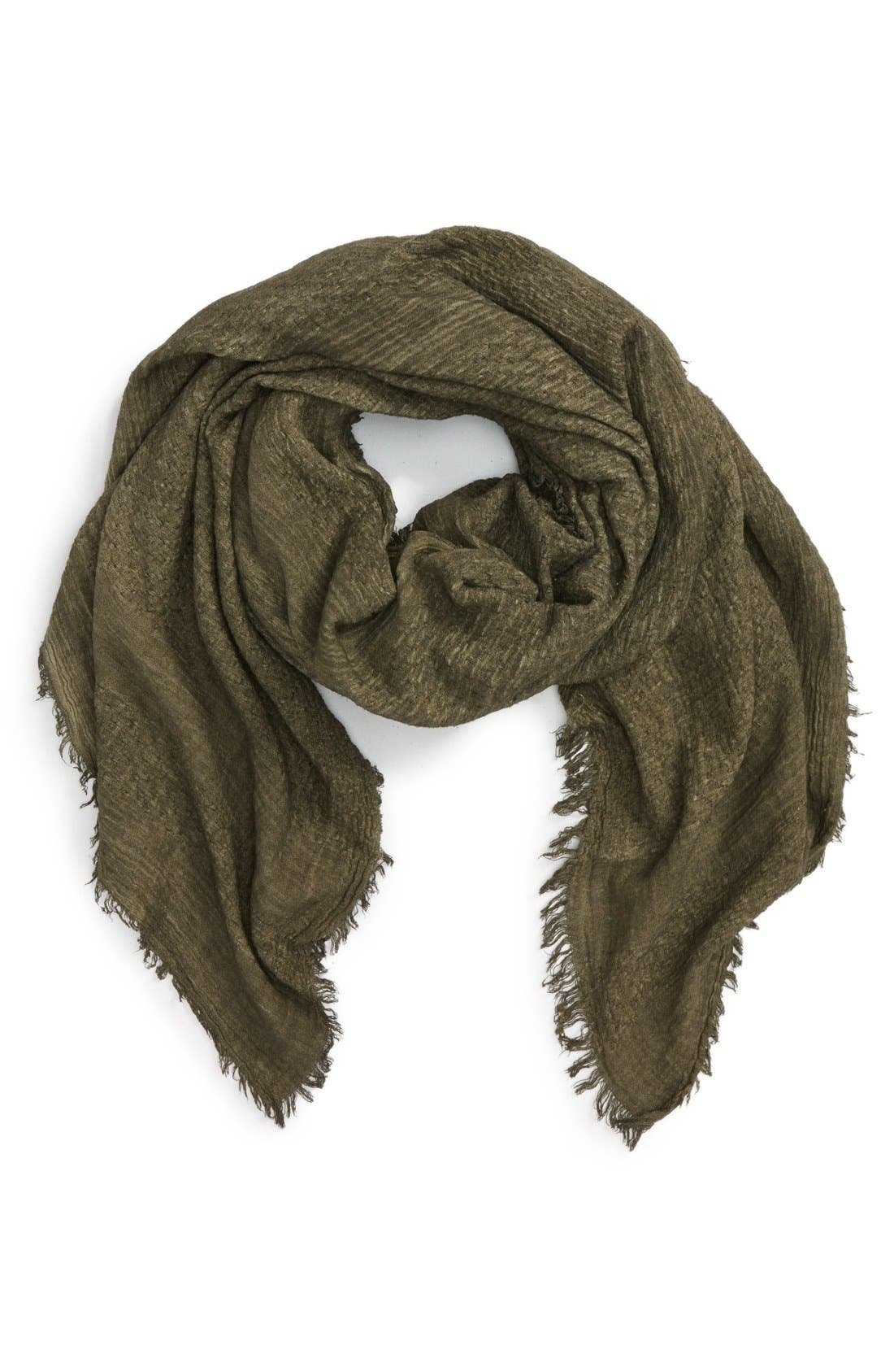 Main Image - BP. Woven Cotton Square Scarf