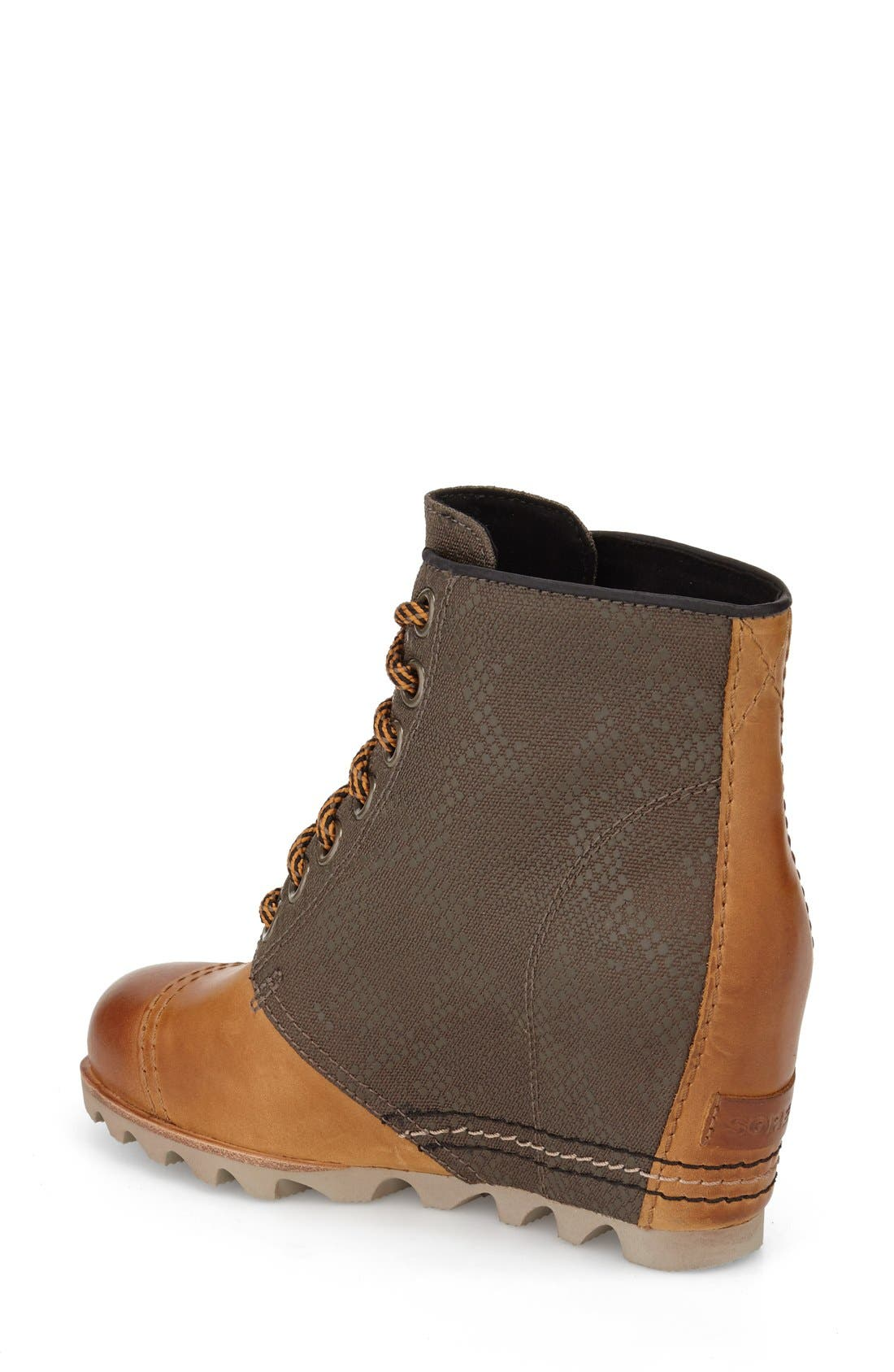 '1964 Premium Canvas' Waterproof Wedge Bootie,                             Alternate thumbnail 2, color,                             Elk