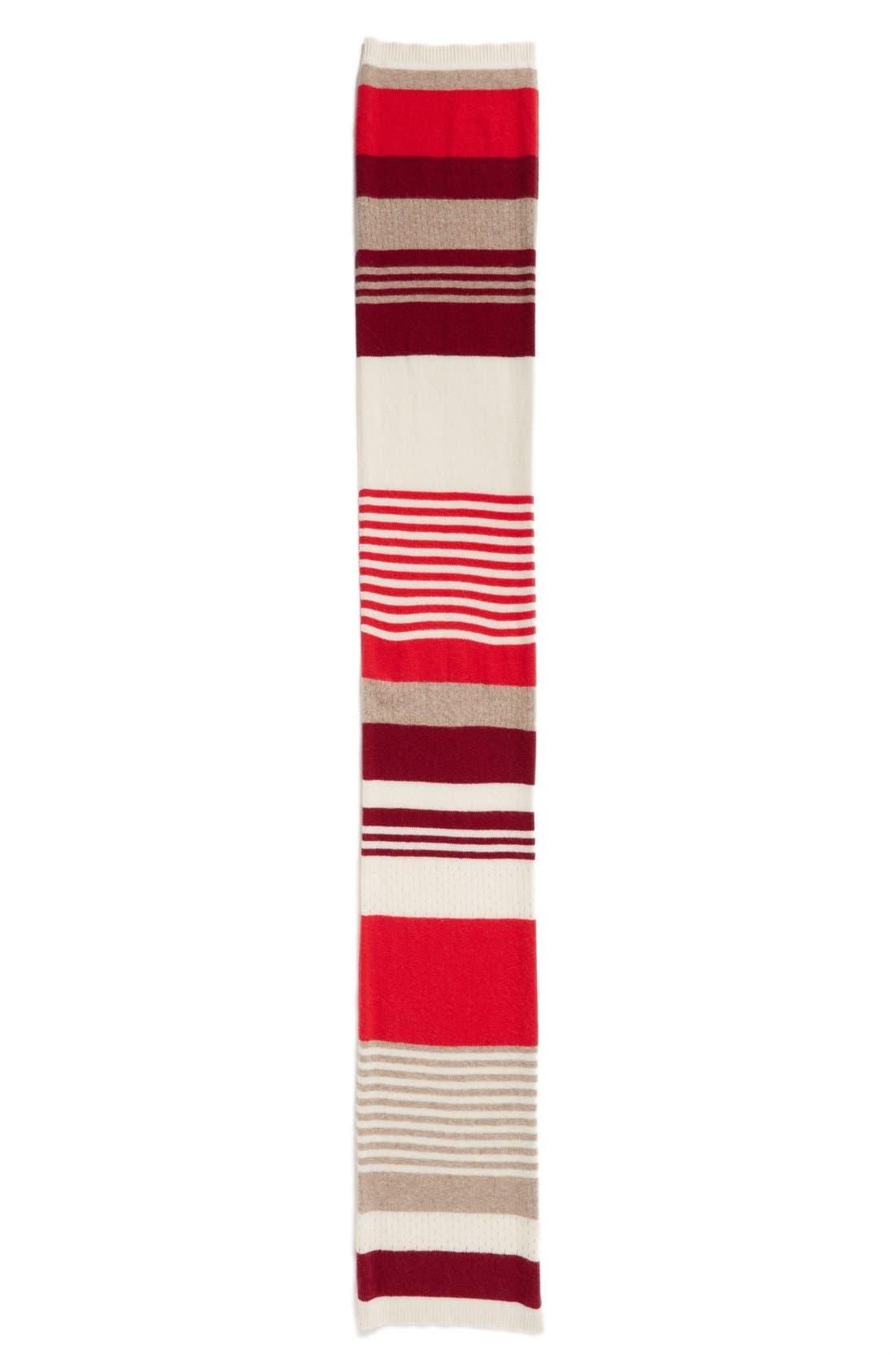 Alternate Image 2  - Halogen® Rugby Stripe Cashmere Muffler