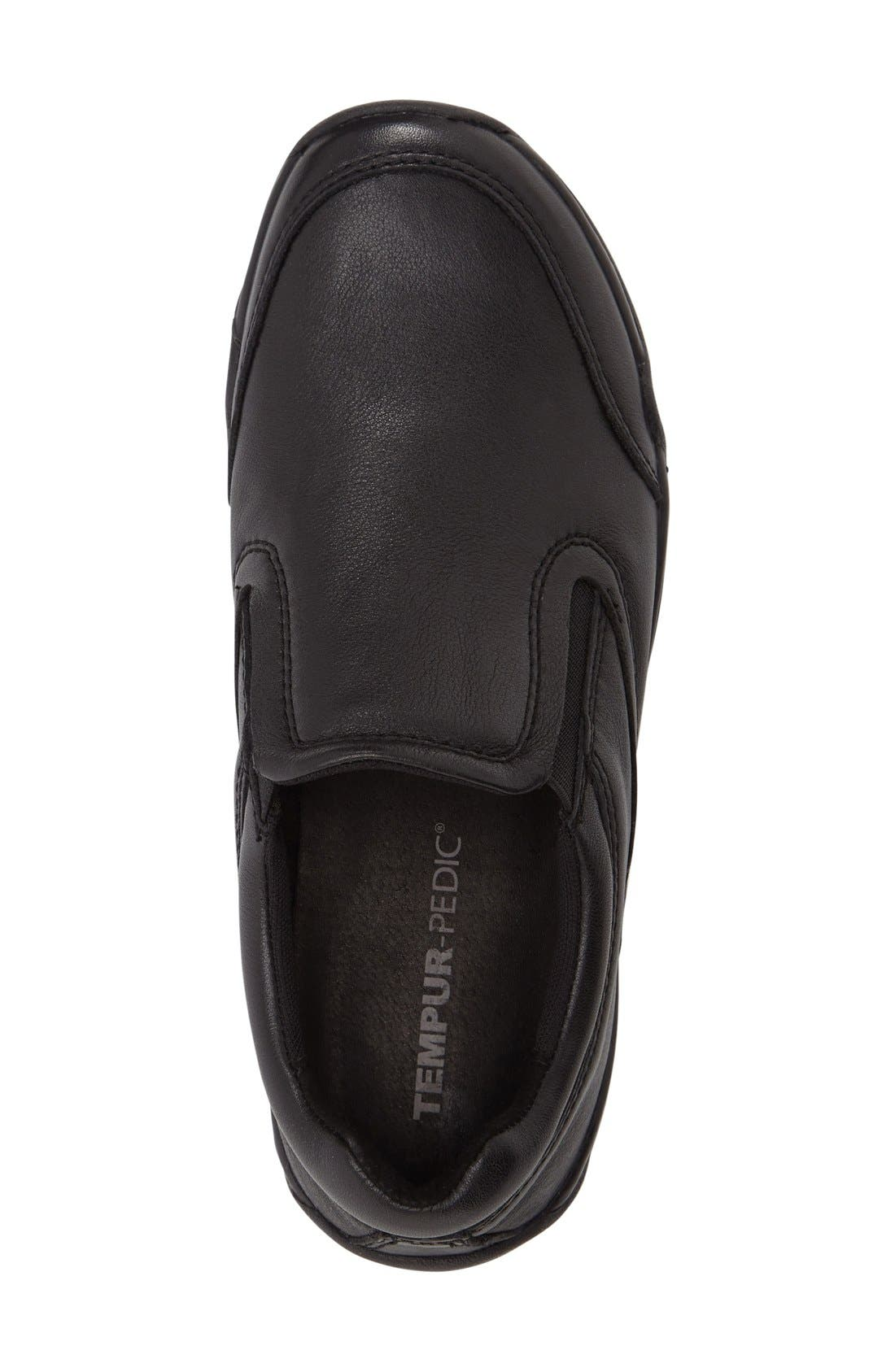 Tempur-Pedi Jacobi Slip-On,                             Alternate thumbnail 3, color,                             Black Leather