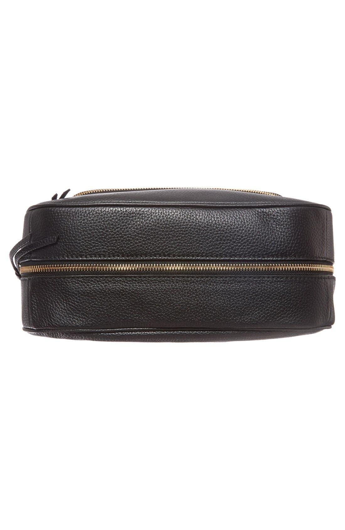 cobble hill - deva leather crossbody bag,                             Alternate thumbnail 6, color,                             Black