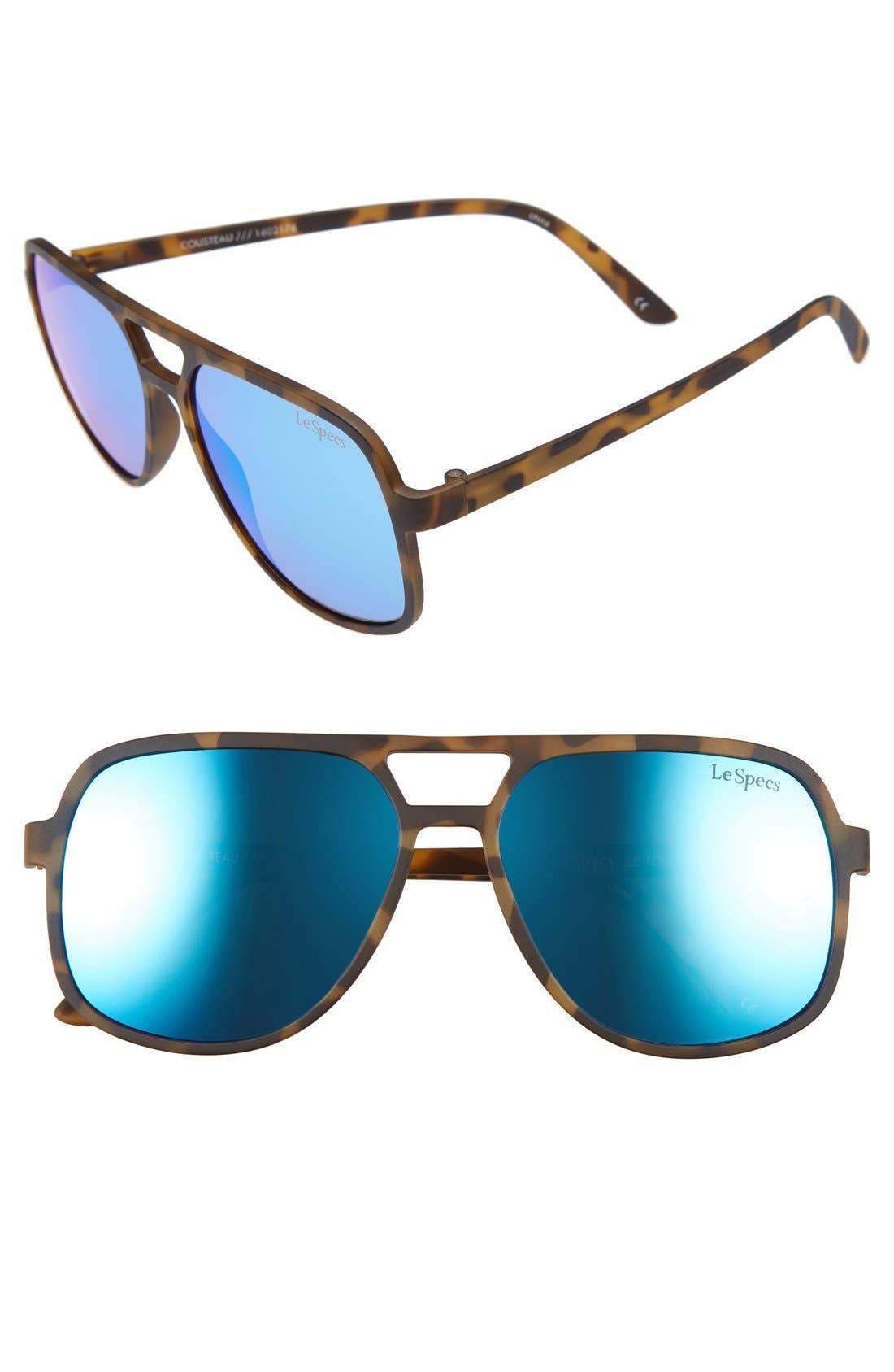 Cousteau 58mm Sunglasses,                         Main,                         color, Matte Tortoise