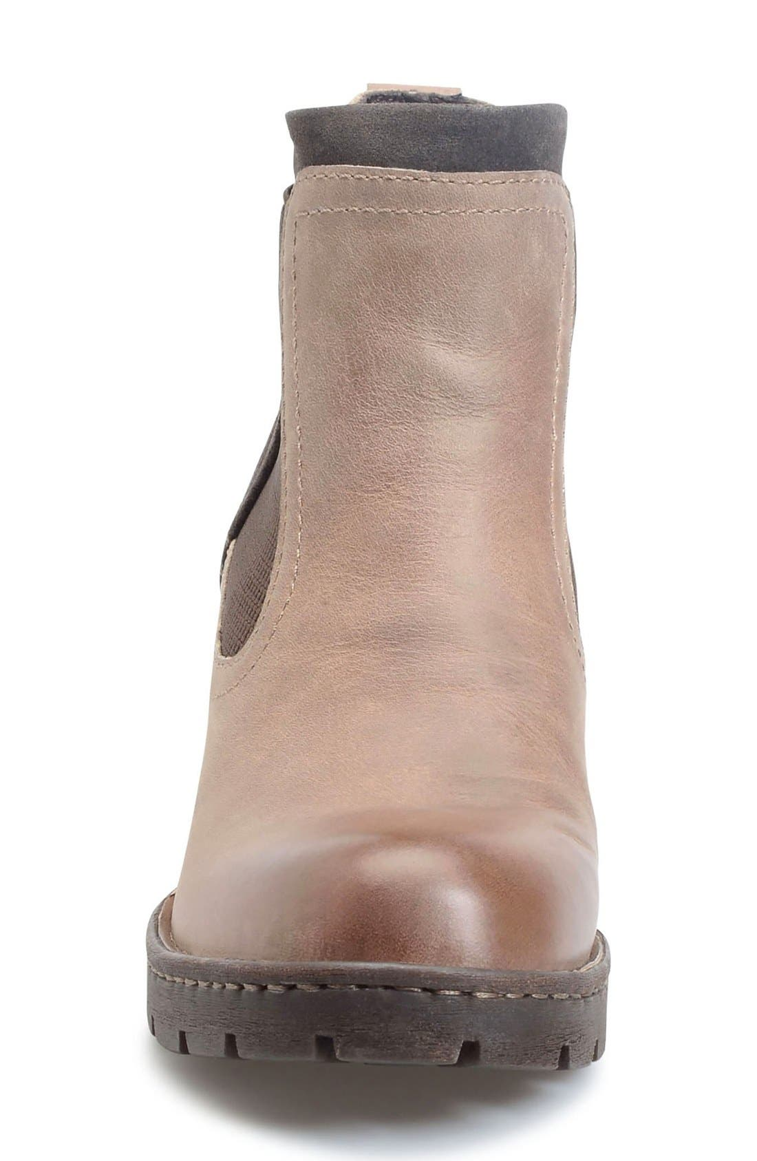 Madyson Chelsea Boot,                             Alternate thumbnail 3, color,                             Mouse Leather