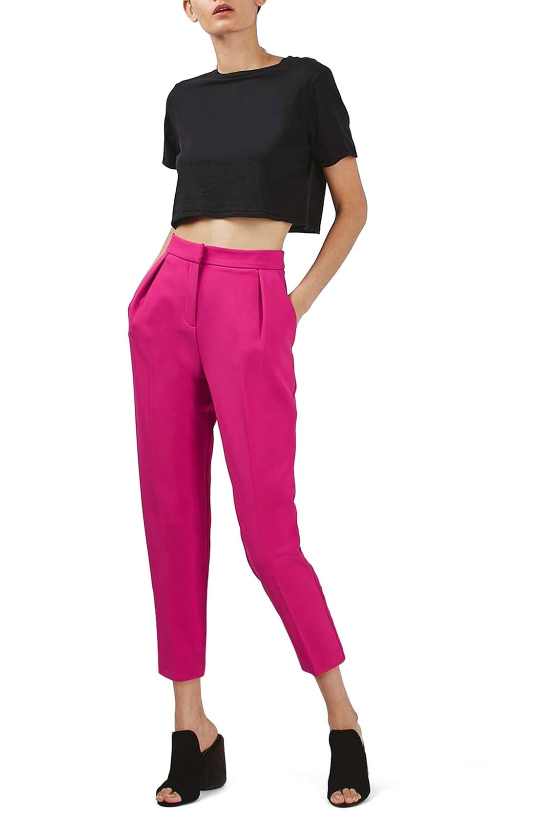 Alternate Image 2  - Topshop Structured Peg Trousers