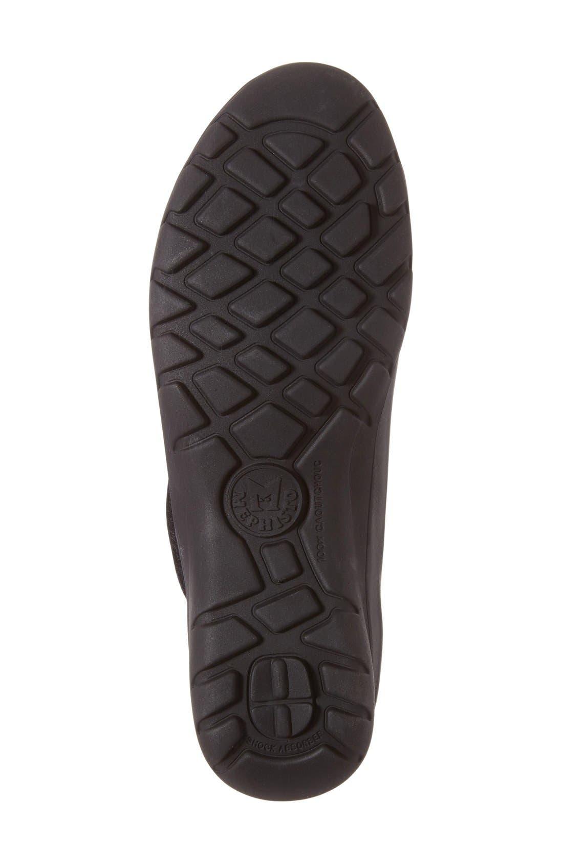 'Luce' Sneaker,                             Alternate thumbnail 4, color,                             Black Silk Leather