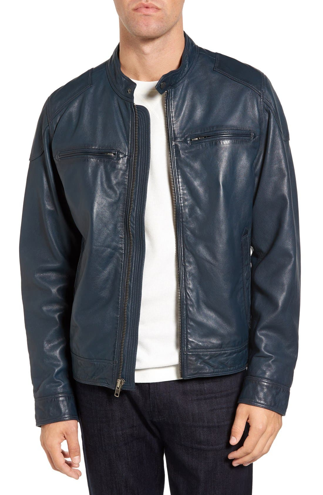 Black Rivet Leather Moto Jacket