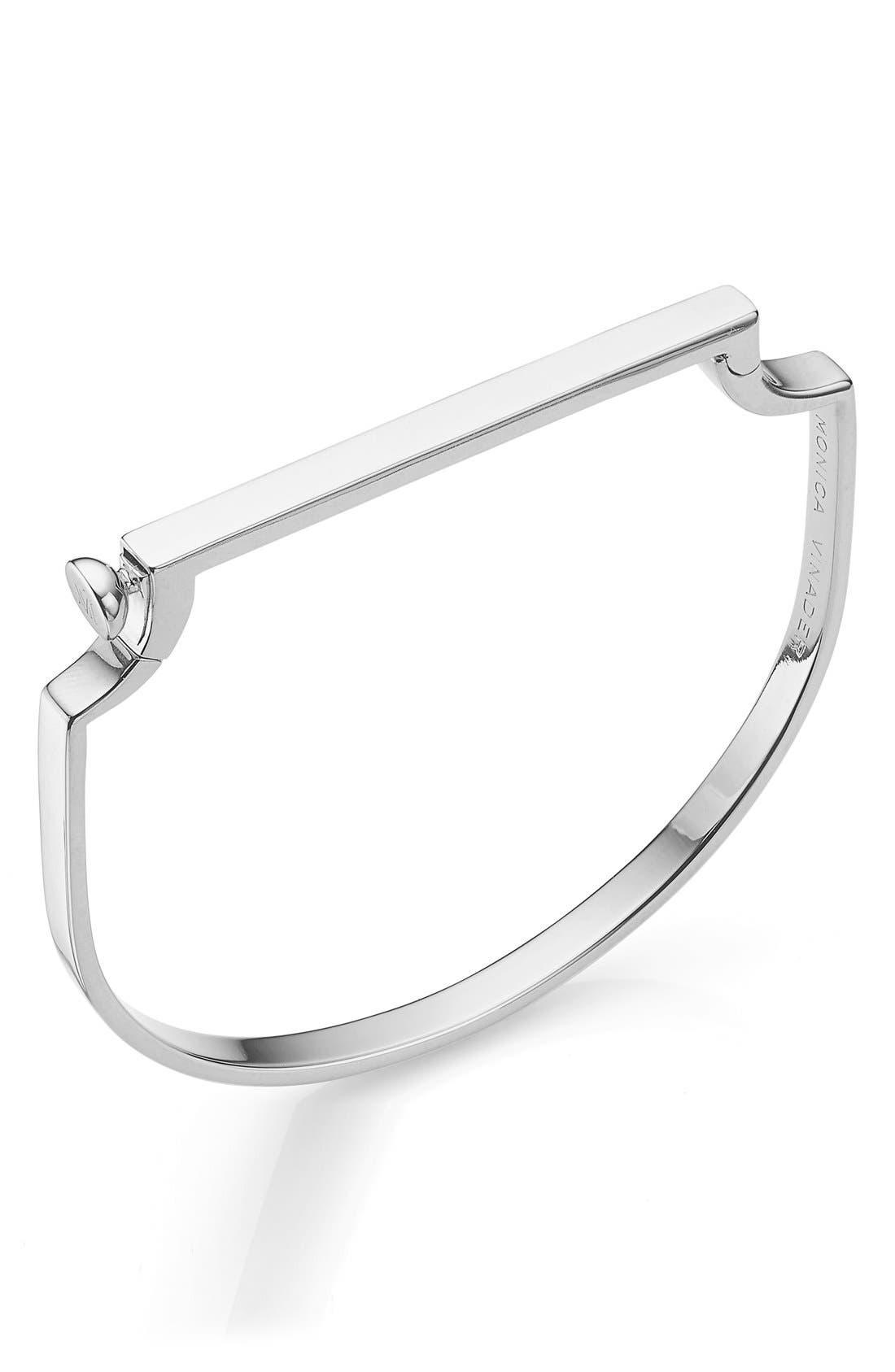 Engravable Signature Thin Bangle,                         Main,                         color, Silver