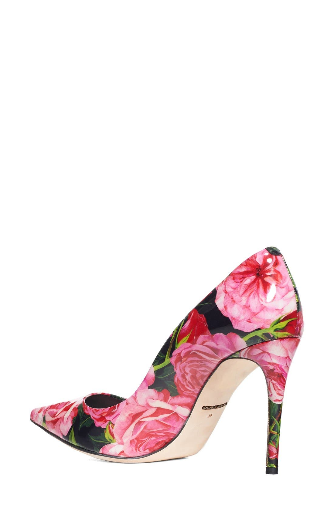 Alternate Image 2  - Dolce&Gabbana Rose Print Pointy Toe Pump (Women)