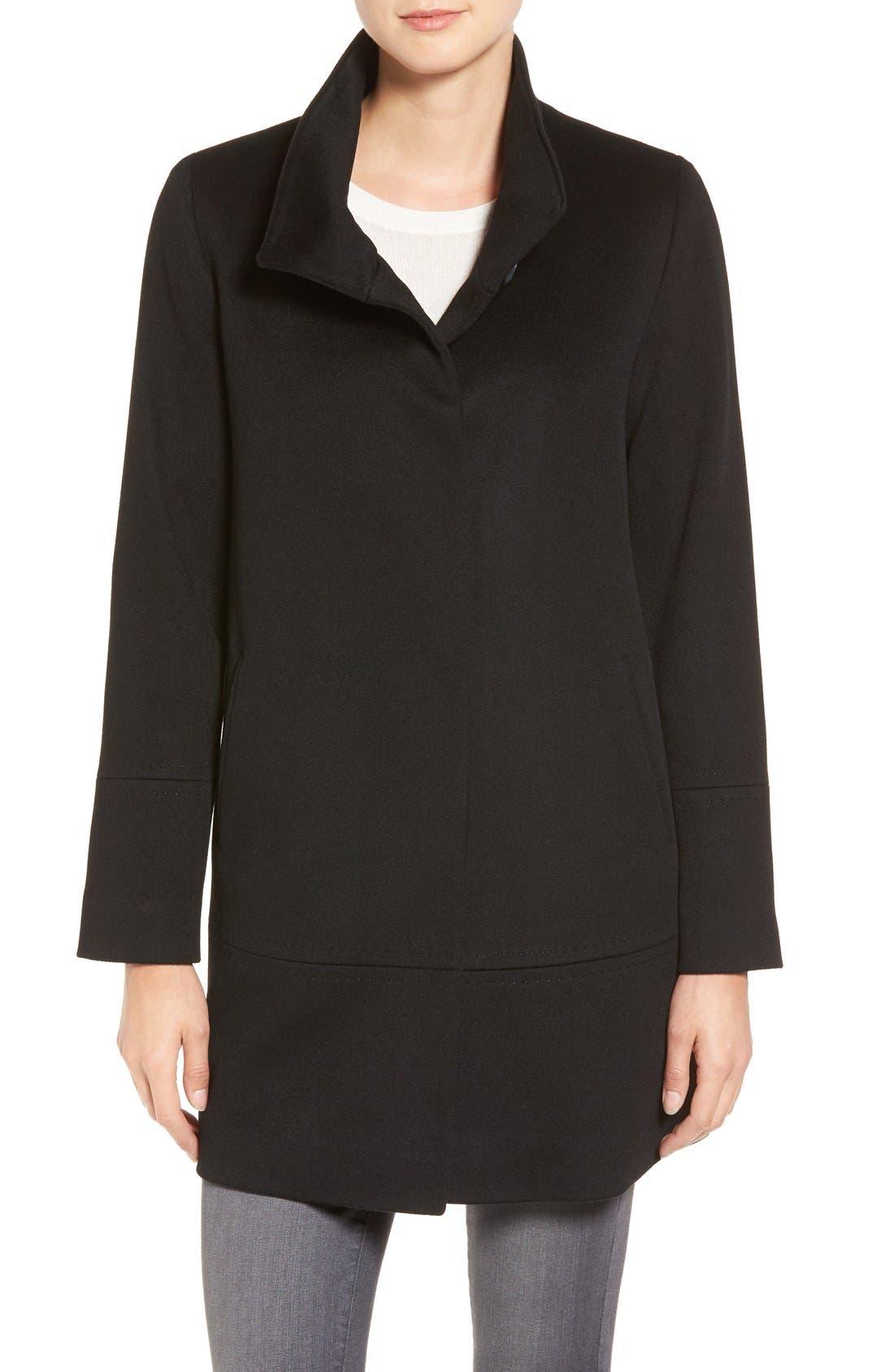Loro Piana Wool Car Coat,                         Main,                         color, Black
