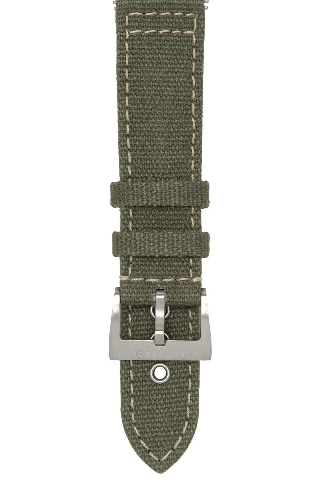 Jack Mason Canvas Watch Strap, 22mm