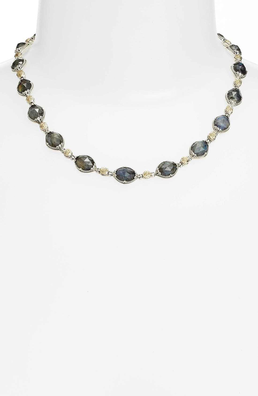 Cassiopeia Collar Necklace,                             Alternate thumbnail 2, color,                             Labradorite