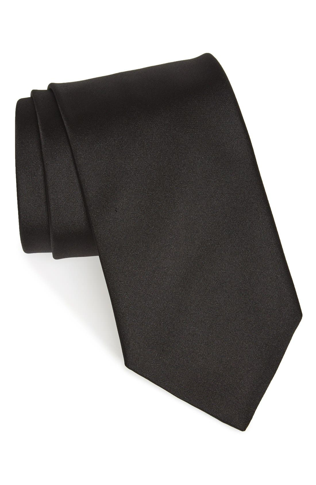 Alternate Image 1 Selected - BOSS Solid Silk Skinny Tie