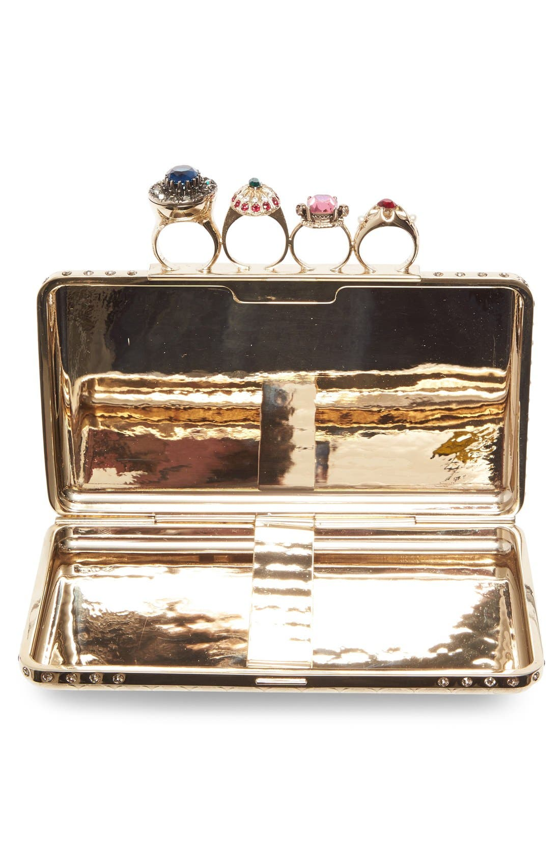 Alternate Image 4  - Alexander McQueen Embellished Knuckle Clasp Box Clutch
