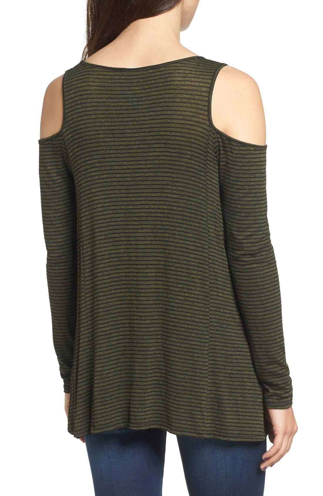 Alternate Image 2  - Lush Stripe Cold Shoulder Top