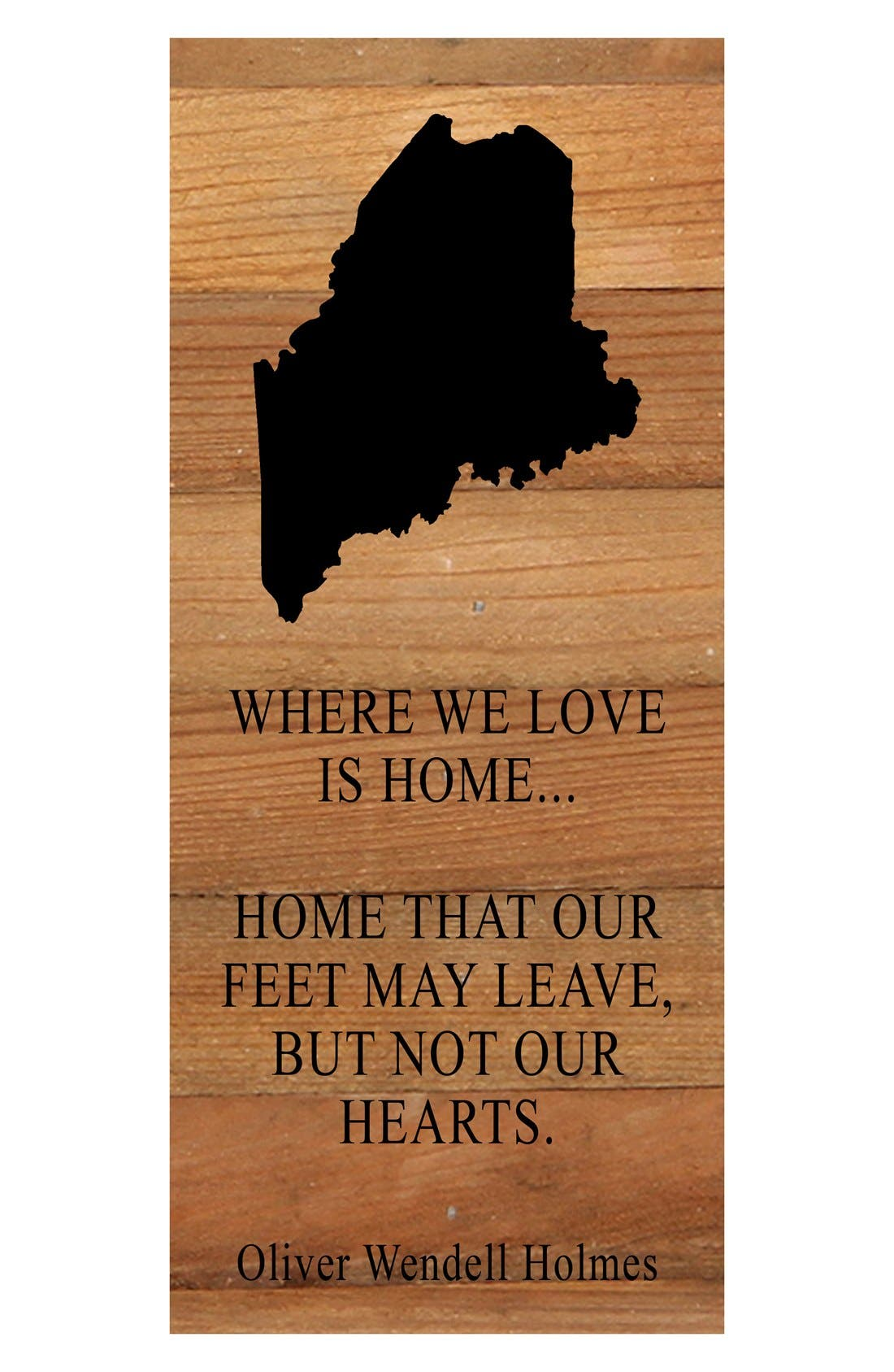 Second Nature 'Where We Love is Home' Reclaimed Wood Wall Art,                         Main,                         color, Me