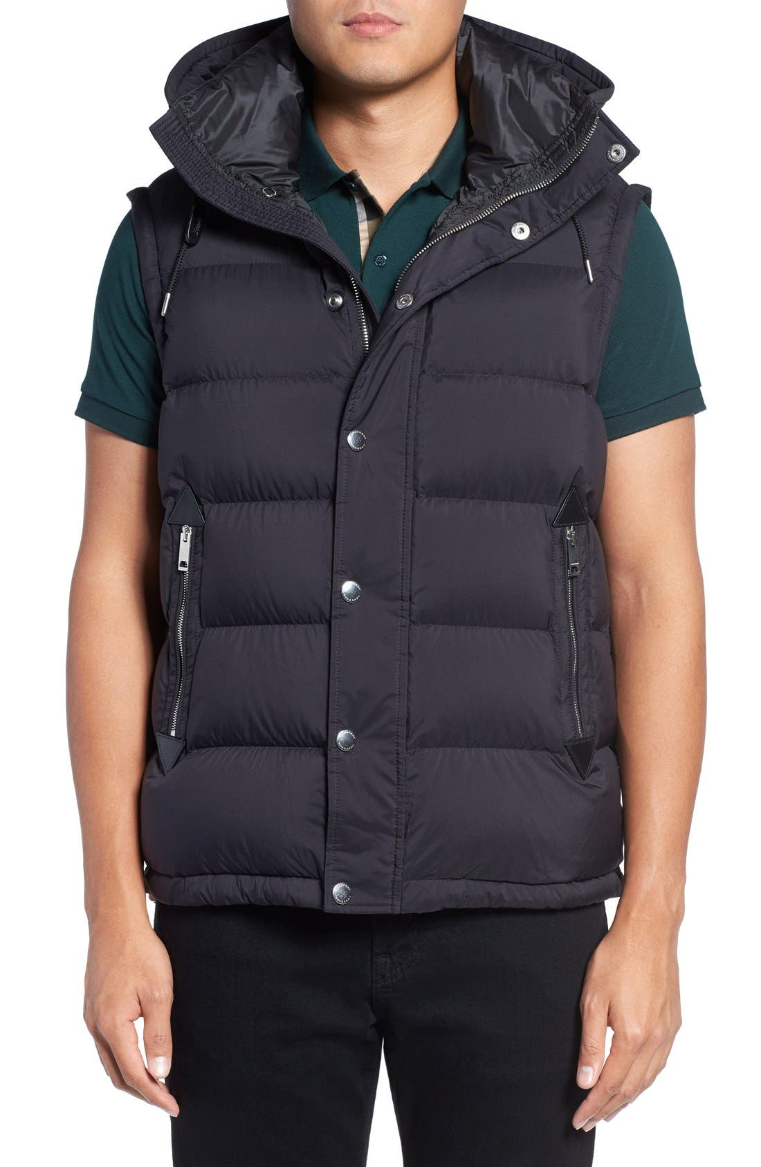 Convertible Quilted Jacket,                             Alternate thumbnail 4, color,                             Black