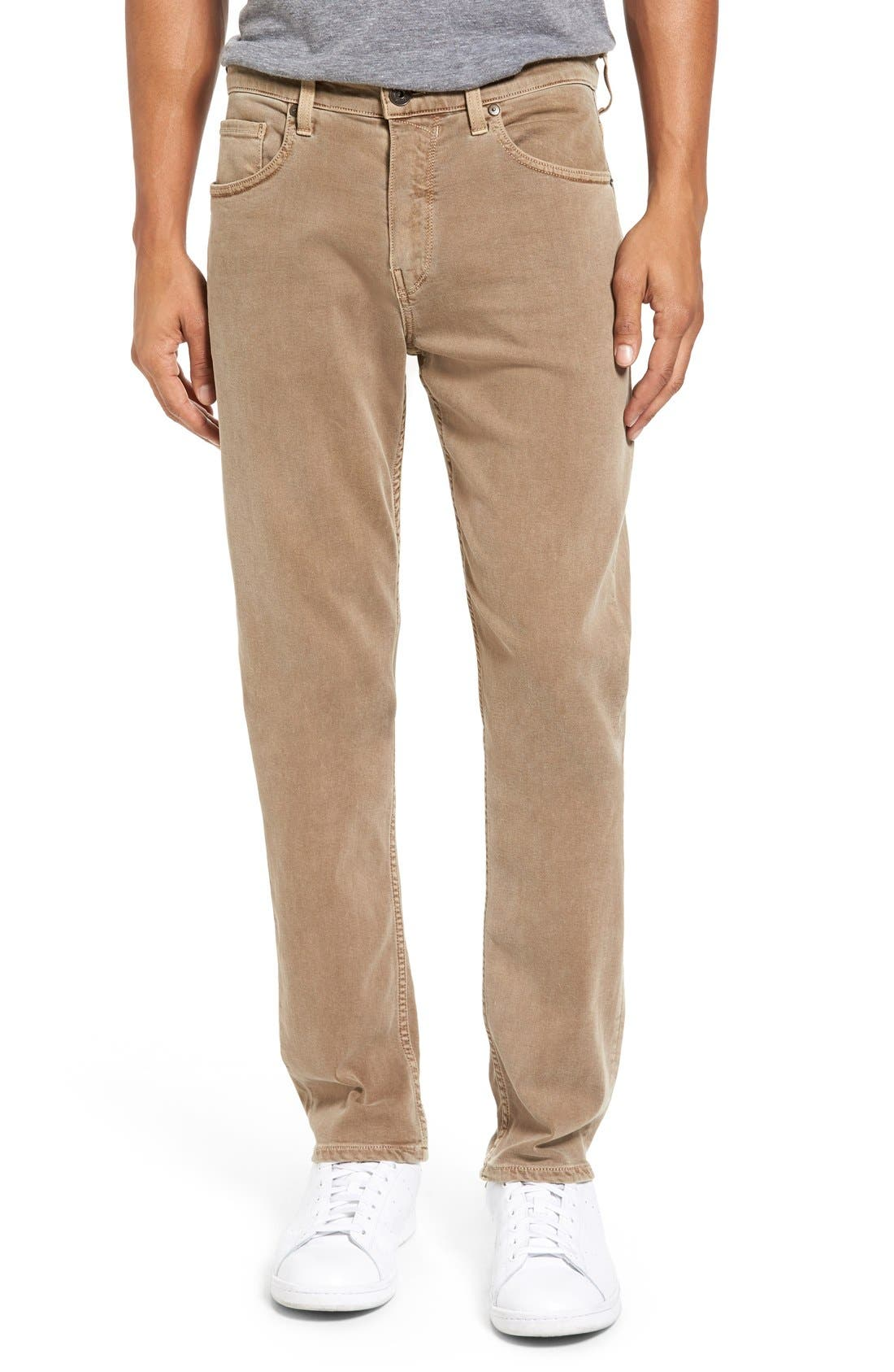 Main Image - PAIGE Transcend - Federal Slim Straight Leg Jeans (Fennel Seed)