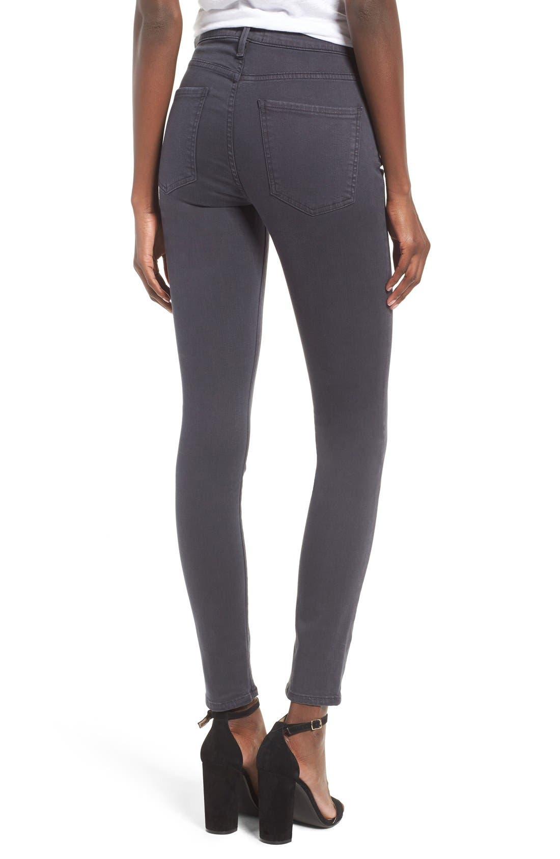Sophie High Rise Ankle Skinny Jeans,                             Alternate thumbnail 2, color,                             Aura