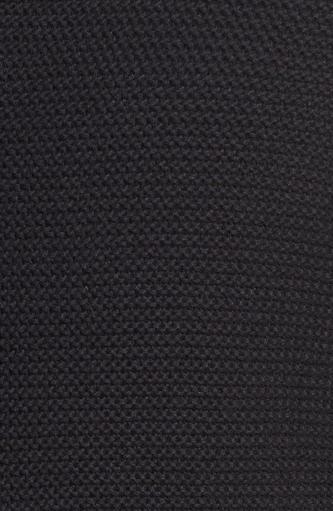 Cypress Cotton Shawl Collar Cardigan,                             Alternate thumbnail 5, color,                             Black