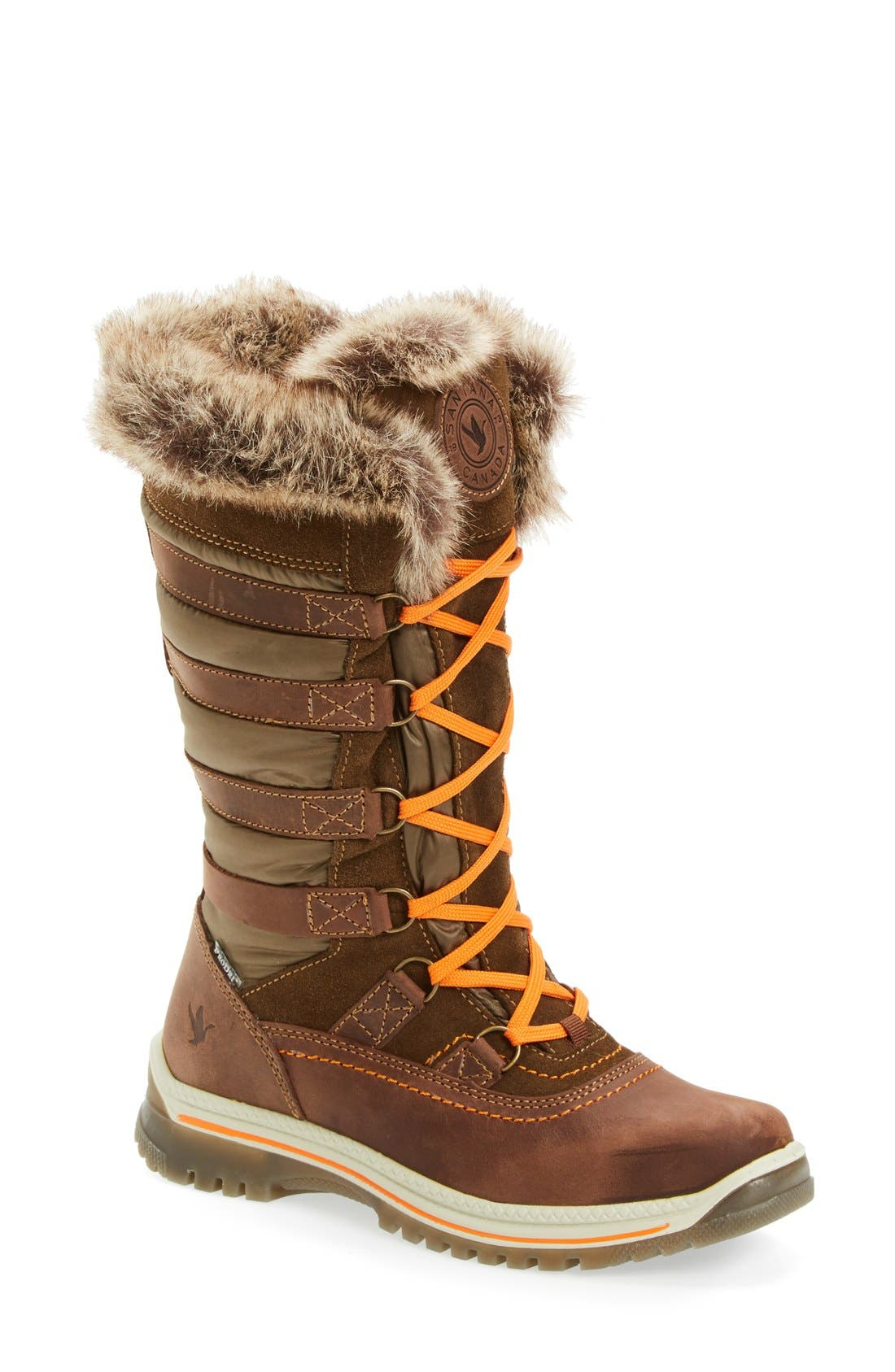 Alternate Image 1 Selected - Santana Canada Milani Waterproof Faux Fur Boot (Women)