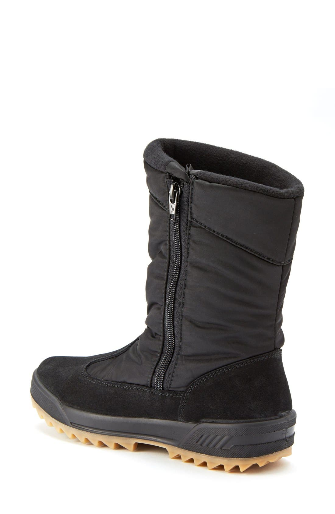 Iceland Waterproof Snow Boot,                             Alternate thumbnail 3, color,                             Black Multi Fabric