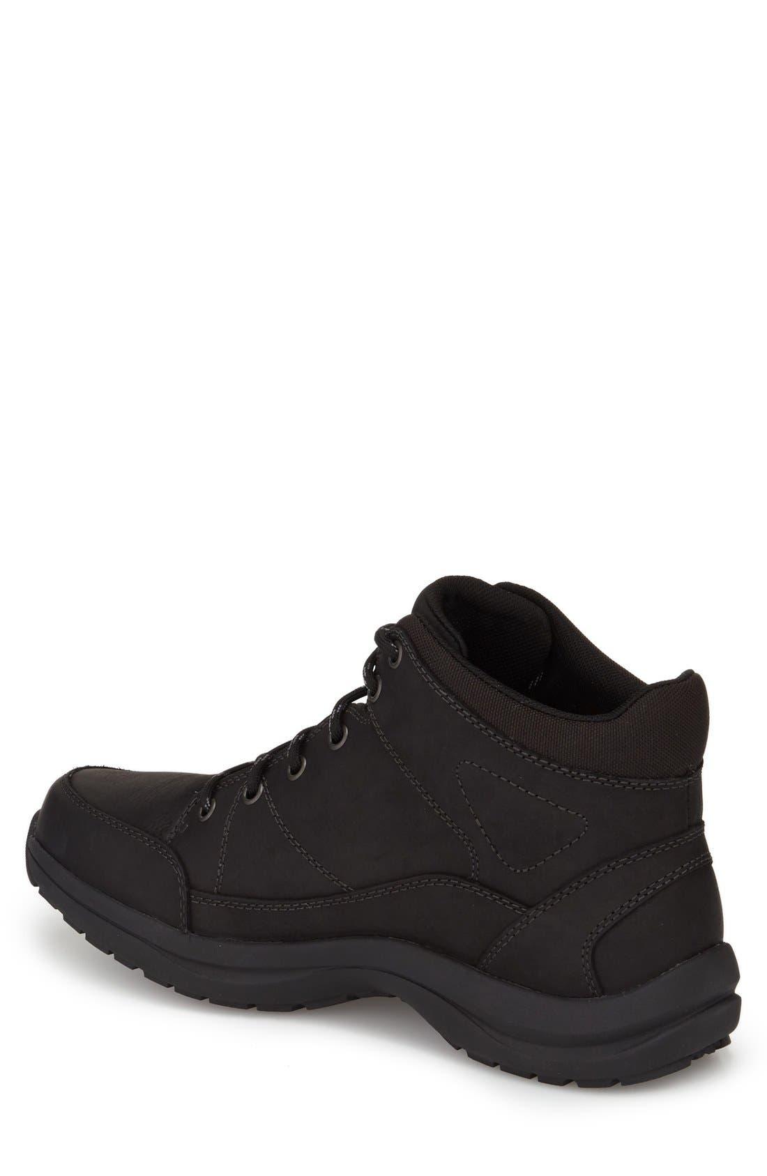 Simon-Dun Waterproof Boot,                             Alternate thumbnail 2, color,                             Black Leather