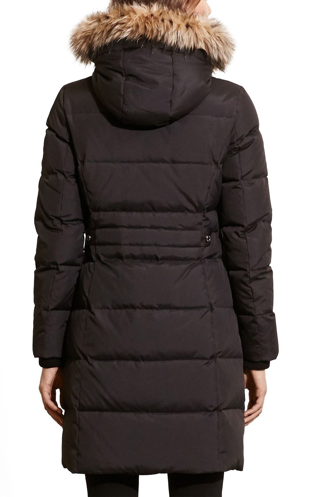 Quilted Parka,                             Alternate thumbnail 3, color,                             Black