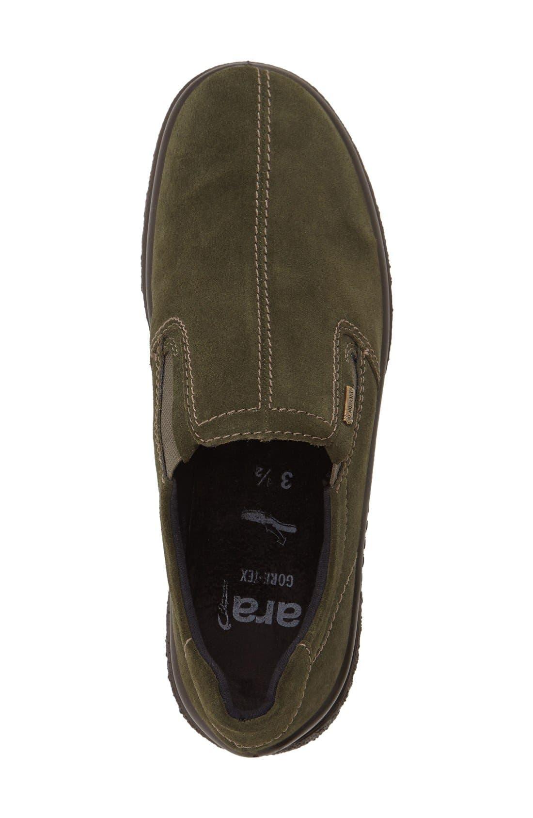 Parson Waterproof Gore-Tex<sup>®</sup> Slip-On Sneaker,                             Alternate thumbnail 3, color,                             Olive Suede