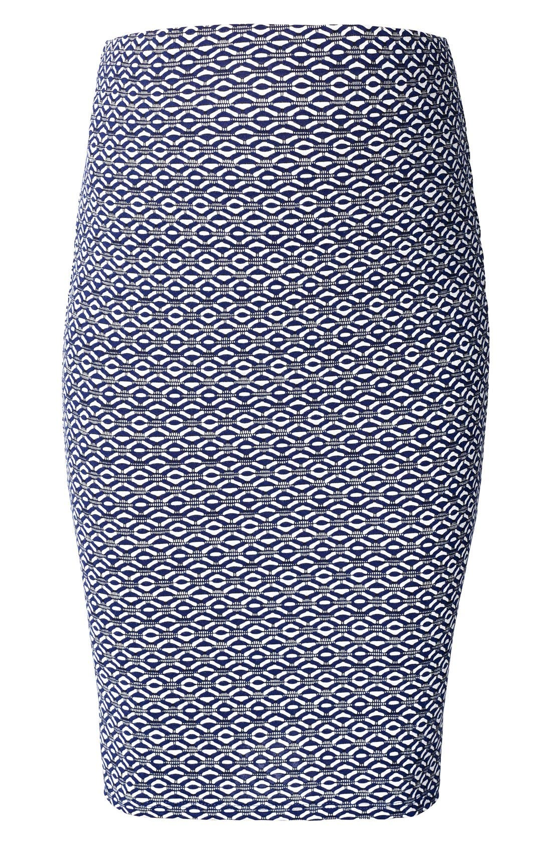 Rita Maternity Pencil Skirt,                             Main thumbnail 1, color,                             Medium Blue